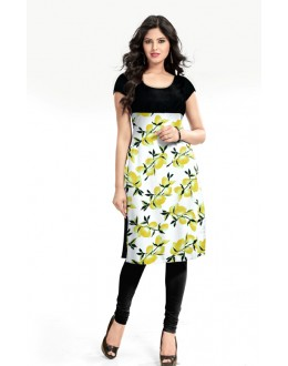 Office Wear Readymade Lime Cotton Kurti - K-16