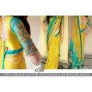 Bollywood Style - Designer Yellow & Blue Half & Half Saree - KT-3162