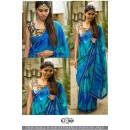 Bollywood Style - Party Wear Blue Sibori Printed Saree - KT-3166