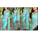 Bollywood Replica - Designer Blue Saree - KT-3040-A