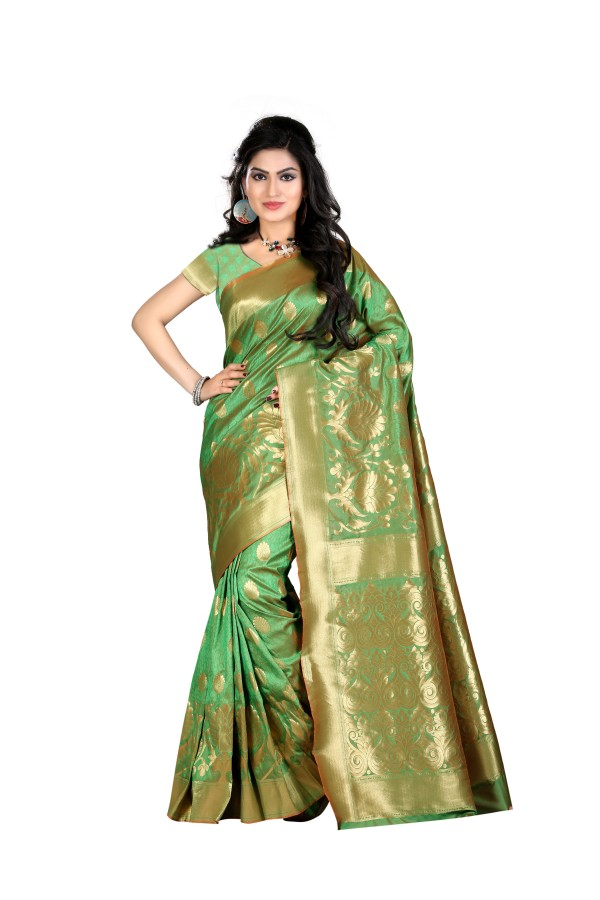 Bollywood Replica - Designer Green Kanjivarm Saree - KT-3046-B