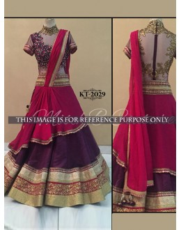 Bollywood Replica - Wedding Wear Pink & Purple Lehenga Choli - KT-2029