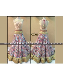 Bollywood Replica - Designer Blue Floral Lehenga Choli - KT-2032