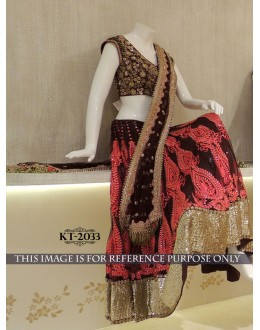 Bollywood Replica - Bridal Maroon Lehenga Choli - KT-2033