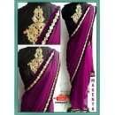 Bollywood Replica - Party Wear Magenta Saree - 9680-D