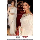 Bollywood Replica - Aishwarya Rai In Designer White Embroidered Saree - BT-138