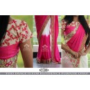 Bollywood Replica - Wedding Wear Pink & Cream Saree - KT-3104