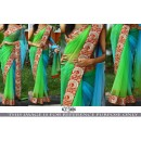 Bollywood Replica - Designer Nylon Net Multi-Colour Saree - KT-3106