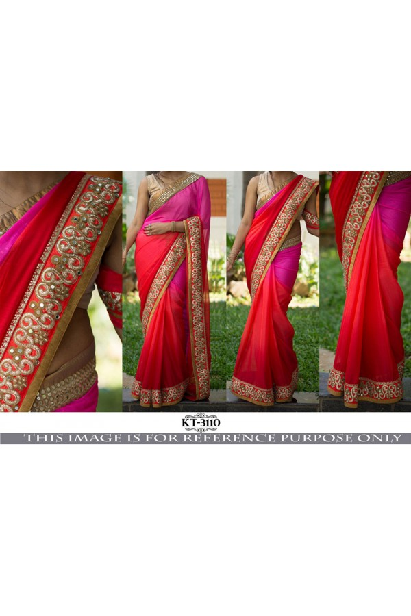 Bollywood Replica - Wedding Wear Multi-Colour Saree - KT-3110