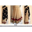 Bollywood Replica - Wedding Wear Black & Beige Saree - KT-3111
