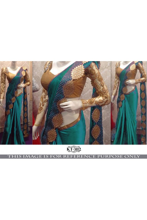 Bollywood Replica - Wedding Wear Turquoise  Saree - KT-3112-B