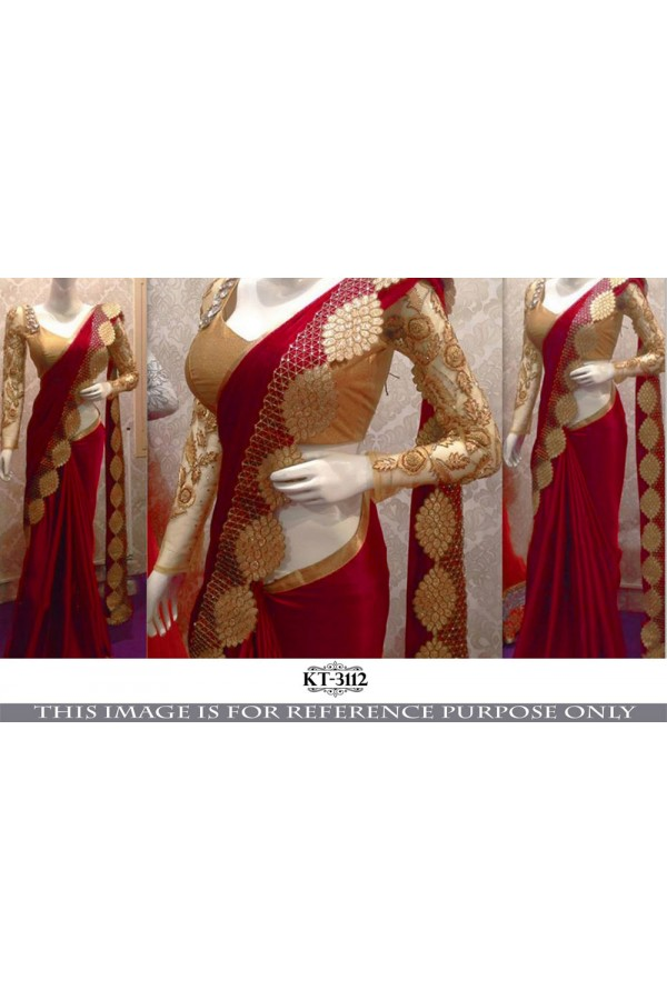 Bollywood Replica - Wedding Wear Red Saree - KT-3112-E
