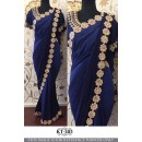 Bollywood Replica - Wedding Wear Blue Ethnic Saree - KT-3115
