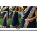 Bollywood Replica - Fancy Blue Georgette Saree - KT-3120