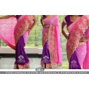 Bollywood Replica - Party Wear Pink & Purple Georgette Saree - KT-3126