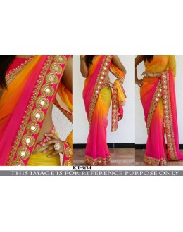 Bollywood Replica - Party Wear Multi-Colour Georgette Saree - KT-3134