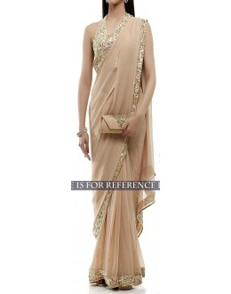 Bollywood Replica - Designer Beige  Georgette Saree - KT-3048