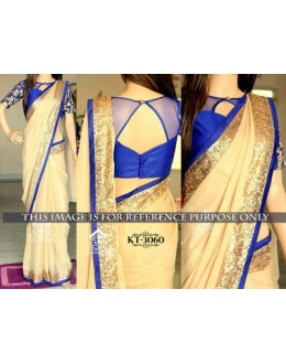 Bollywood Replica - Designer Beiger Saree - KT-3060