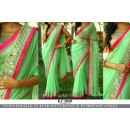 Bollywood Replica - Designer Green Georgette Saree - KT-30668