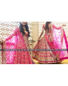 Bollywood Replica - Bridal Wear Pink Lehenga Choli - kt-2020