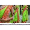 Bollywood Replica -Ethnic Wear Green Georgette Saree - KT-3123