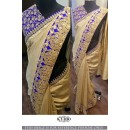 Bollywood Replica- Wedding Wear Beige Silk Saree - KT-3130