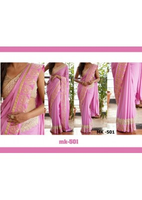 Bollywood Replica - Designer Pink Georgette Saree - Mk-501