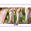 Bollywood Replica - Designer Light Pink & Golden Saree - Mk-508