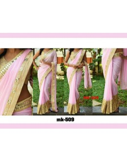 Bollywood Replica - Designer Cream Saree - Mk-508