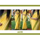 Bollywood Replica - Designer Yellow Saree - Mk-511