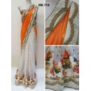 Bollywood Replica - Designer Orange & White Saree - Mk-719