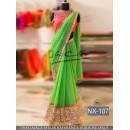 Bollywood Replica - Wedding Wear Green Georgette Saree - NX-107
