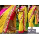 Bollywood Replica - Adorable Yellow & Pink Georgette Saree - NX-113