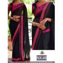Bollywood Replica - Party Wear Black Saree  - NX-46