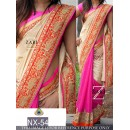 Bollywood Replica - Wedding Wear Beige & Pink Saree  - NX-54