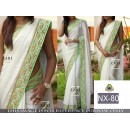 Bollywood Replica - Party Wear White Chiffon Georgette Saree  - NX-80
