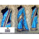 Bollywood Replica - Designer Blue Sibori Printed Saree  - NX-31