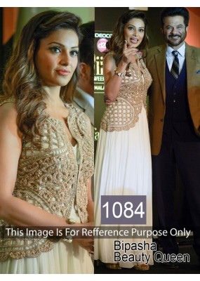 Bollywood Replica- Bipasha Basu Off-White Tisschu Salwar Suit - 1084