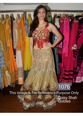 Bollywood Replica- Daisy Shah Designer Beige & Red Gown - 1076
