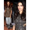 Bollywood Replica- Deepika Padukone In Black Moss Velvet Gown - 1065