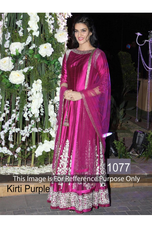 Bollywood Replica - Kriti Sanon In Purple Anarkali Suit  - 1077