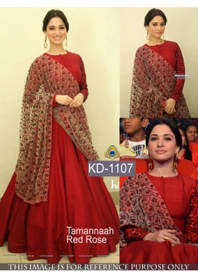 Tamannah Bhatia In Red Party Wear Gown - KD-1107