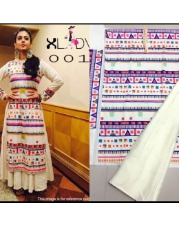 Bollywood Replica - Rakul Preet In Designer Off-White Lehenga Suit - Classic001
