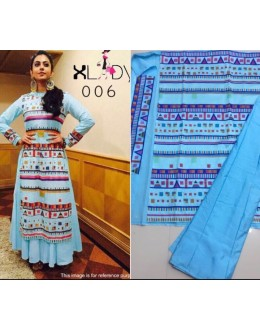Bollywood Replica - Rakul Preet In Designer Blue Lehenga Suit - Classic006