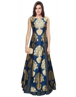 Bollywood Replica - Designer Blue Jacquard Silk Lehenga Suit - LS02
