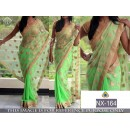 Bollywood Replica - Party Wear Neon Green Half-Half Saree  - NX-164
