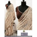 Bollywood Replica - Party Wear Cream Heavy Embroidered Saree - NX-172