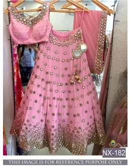 Bollywood Replica - Wedding Wear Pink Silk Lehenga Choli - NX-182