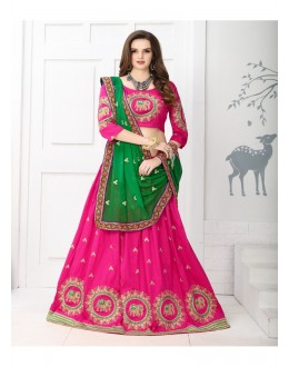 Bollywood Inspired - Wedding Wear Pink Embroidered Lehenga Choli  - TBL-01