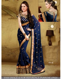 Bollywood Replica - Designer Blue Georgette Saree - SN-5-C